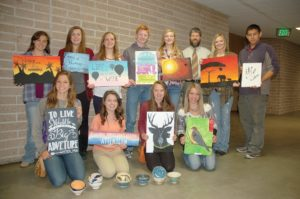 In addition to the concert, there will be a silent auction featuring artwork by Burns High School students. (Photo by RANDY PARKS)