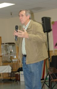Senator Jeff Merkley held a town hall meeting at the Senior Center May 20. (Photo by RANDY PARKS)