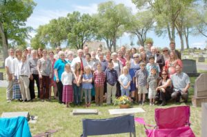 Southam's decedents held a grave site dedication May 29.